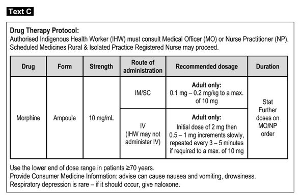 A preview sample on text c: Drug Therapy protocol